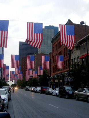 Flags on Larimer Street